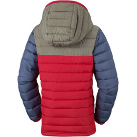 Columbia Powder Lite Hooded Jacket Boys Red Spark/Cypress